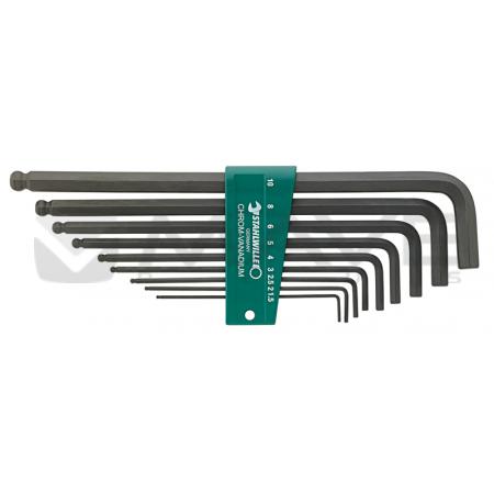96432602 Sada uhlových imbusových skrutkovačov s guličkovým koncom